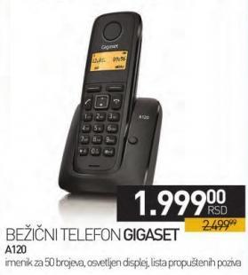 Bežični telefon A120 black