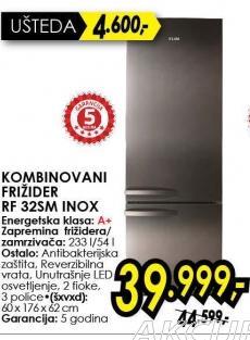Kombinovani frižider Rf 325m Inox