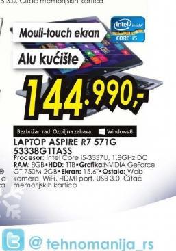 Laptop Aspire R7-571G-53338G1TASS