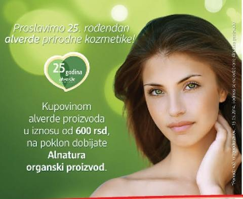 Proslavimo 25 rođendan Alverde prirodne kozmetike