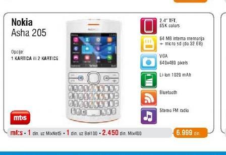 Mobilni telefon Asha 205.1