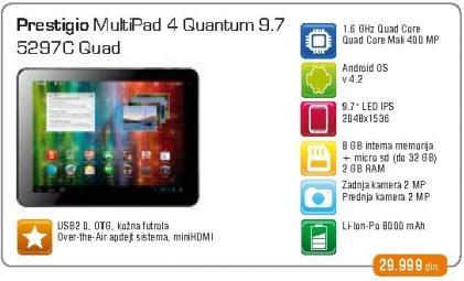 Tablet MultiPad 4 Quantum  PMP5297C