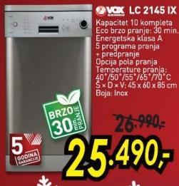 Sudomašina LC 2145 IX