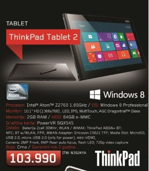 Tablet Think Pad 2