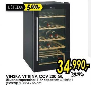 Vinska vitrina CCV 200GL