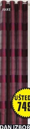Dvoslojna zavesa Anke