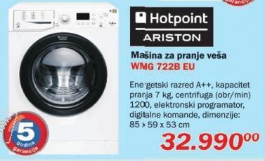 Mašina za pranje veša Wmg 722B Eu