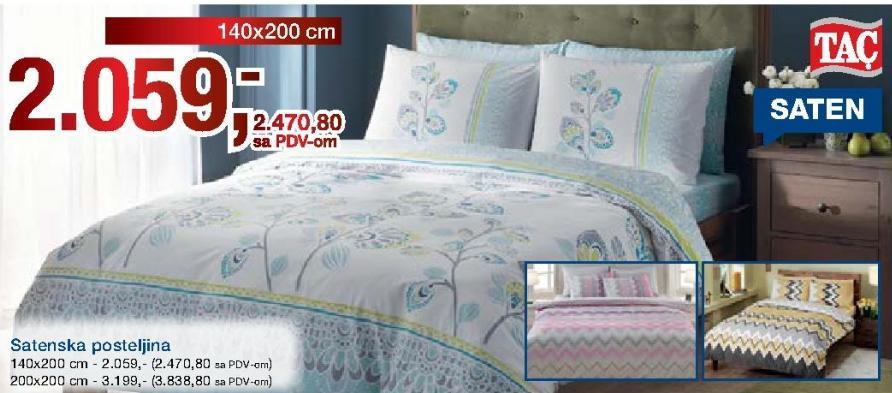 Satenska posteljina 200x200 Tac