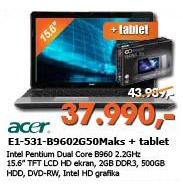 Laptop Aspire E1-531-B9602G50Maks + poklon tablet