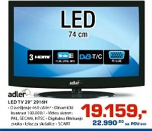 """LED TV 29"""" 2916H"""