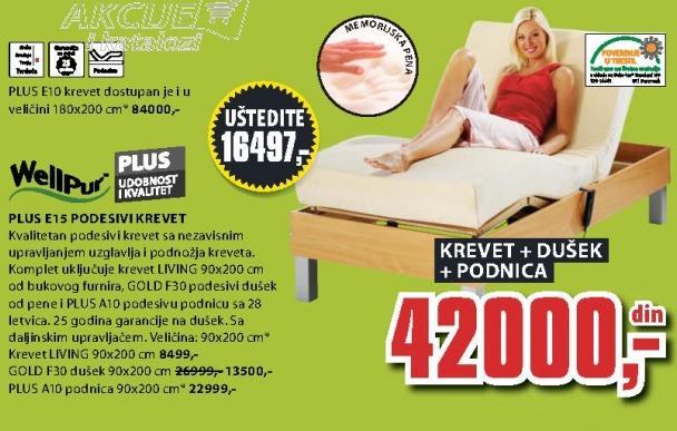 Podesivi krevet Plus E15