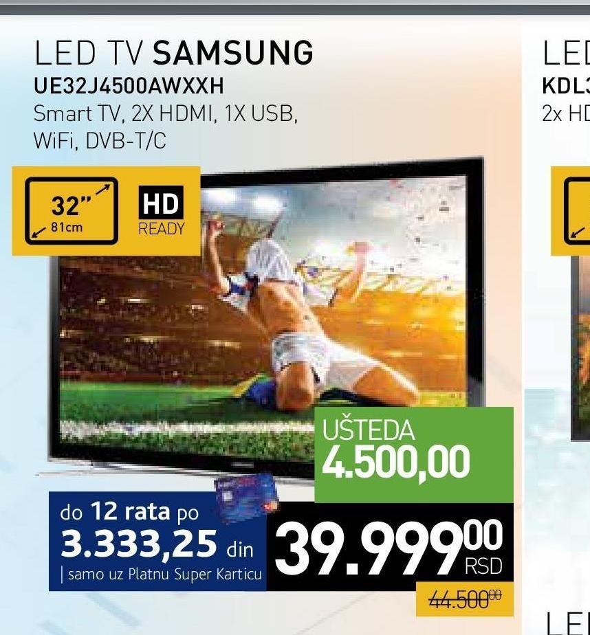 "Televizor LED 32"" UE32J4500AWXXH"