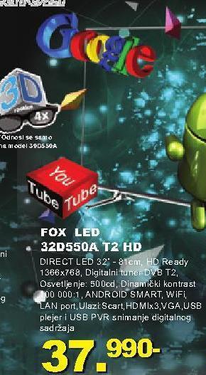 "Televizor LED 32"" 32d550a T2 Hd"