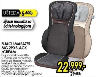 Šiacu masažer Mg 290 Black/Cream