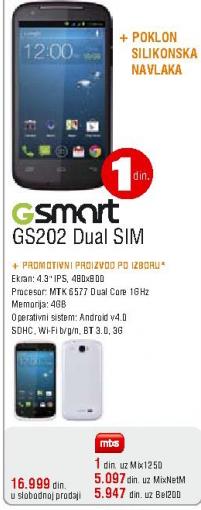 Mobilni telefon Gsmart GS202