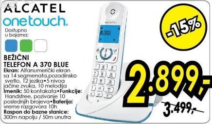 Bežični telefon Onetouch A 370 Blue