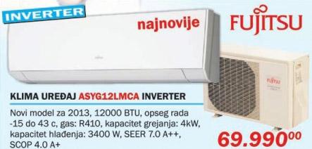 Klima uređaj Asyg12lmca Inverter