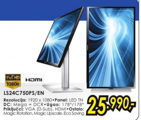 "Monitor 24"" S24C750PS LED PLS"