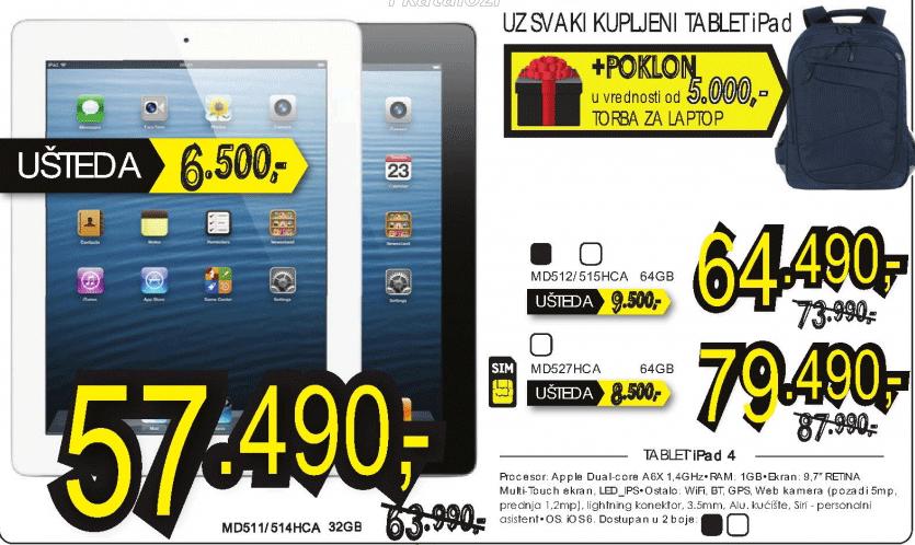 Tablet iPad 4 MD527HC/A