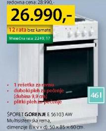 Šporet E56103aw