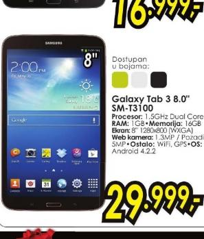 Tablet Galaxy Tab 3 T3100 8.0