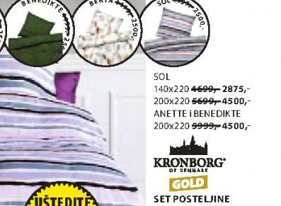 Set  posteljine Benedikte,  200x220cm
