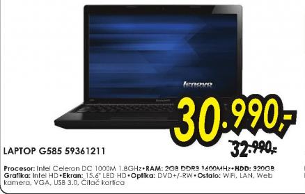 Laptop G580 59361211
