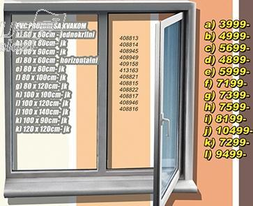 Prozor PVC sa kvakom 100x90 jk