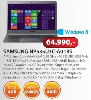 Laptop NP535U3C-A01RS