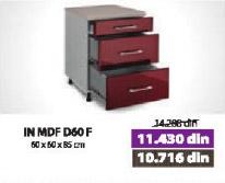 Kuhinjski element IN MDF D60 F bordo sjaj