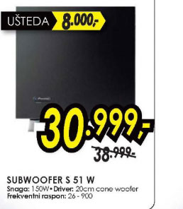 Subwoofer S-51-W