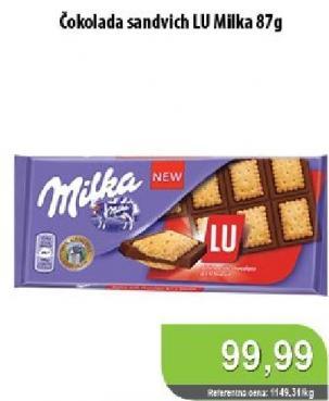 Čokolada keks Lu