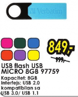 USB flash USB MICRO 8GB 97759