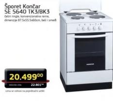 Šporet SE 5640 TK3/BK3