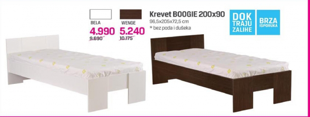 Krevet Boogie 200X90, bela