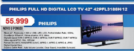 Televizor LED 42PFL3188H 12