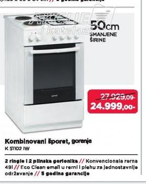 Šporet K51102IW