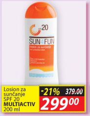 Losion za sunčanje SPF 20