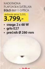 Nadgradna plafonska svetiljka 86811