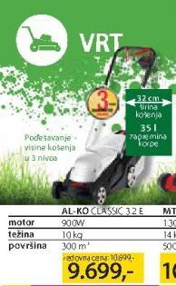 Električna Kosačica AL-KO Classic 3.2 E