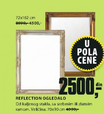 Ogledalo Reflection, 72x162cm