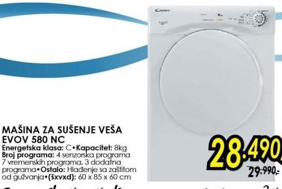 Mašina za sušenje veša Evov 580 nc