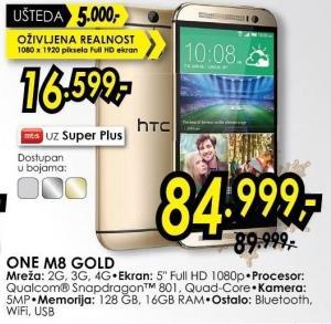 Mobilni telefon One M8 Gold