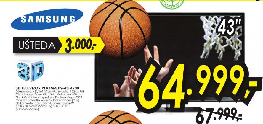 Televizor 3D Plazma PS-43F4900