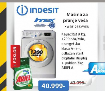 Mašina za pranje veša XWE81283XWEU