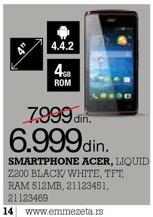 Mobilni telefon Liquid Z200 Black
