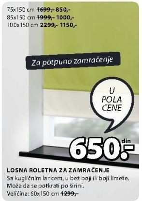 Roletna 60x150 cm