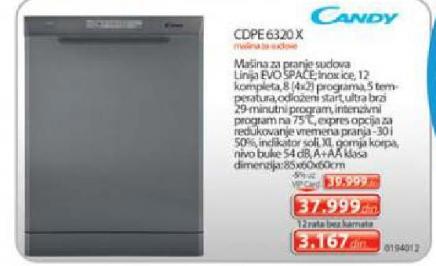 Cdpe 6320 X Sudomašina