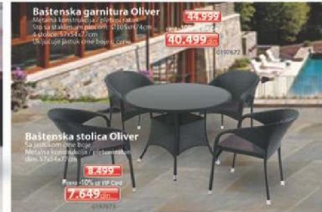 Baštenska stolica Oliver