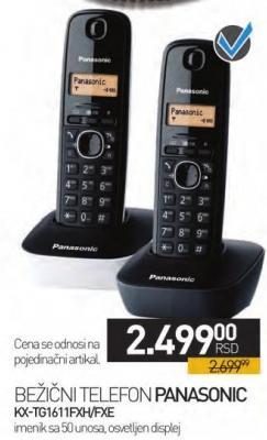 Bežični telefon KX-TG1611FXH/FHE